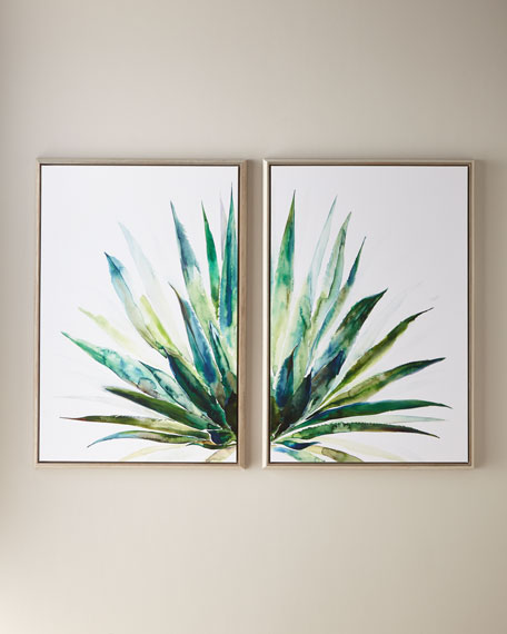 "Verde Agave Wall Art, 30"" x 45"""