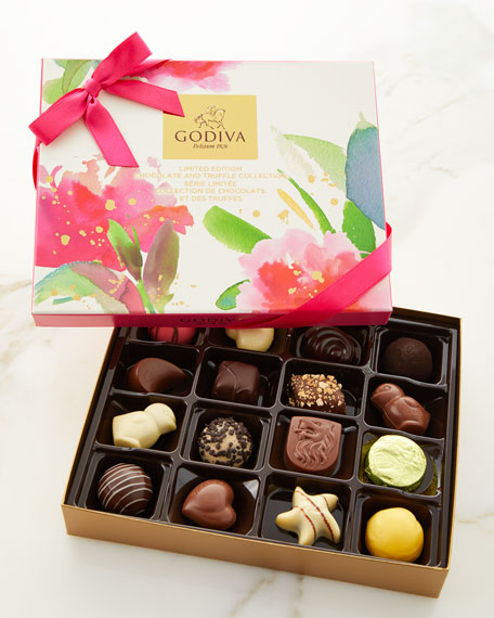 16-Piece Limited Edition Chocolate and Truffle Spring Collection Gift Box