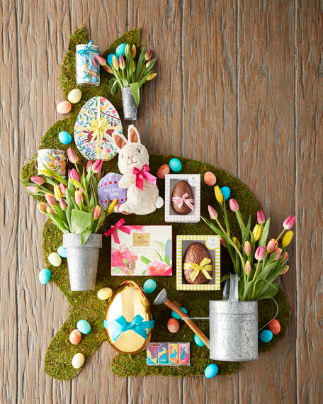 Plush Bunny with Chocolate Foil Eggs