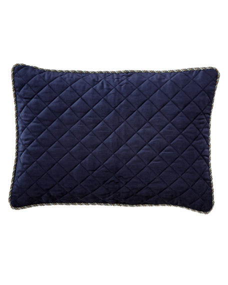 "Velvet Quilted Pillow, 14"" x 20"""