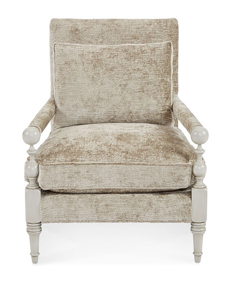 Chenille Transitional Chair