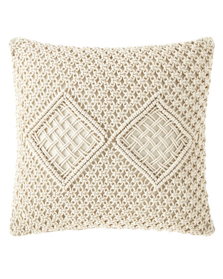 Jamie Young Handmade Woven Pillow