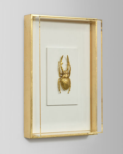Encased Insect in Gold I