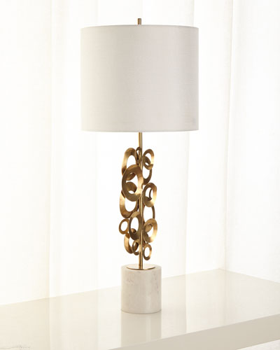 Brass Buffet Lamp