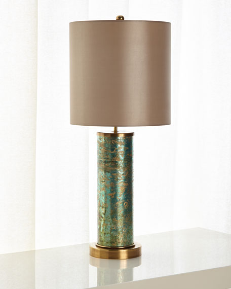 John-Richard Collection Emerald Brass Table Lamp