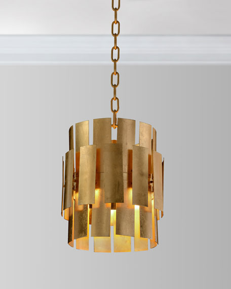 Panes of Gold Leaf Metal Drop LED =