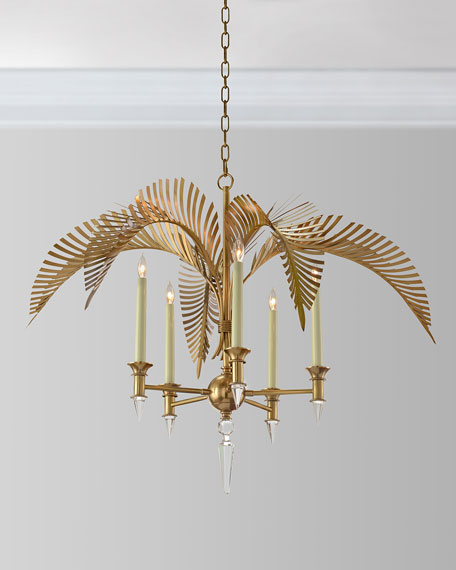 Palm Frond 5-Light Chandelier