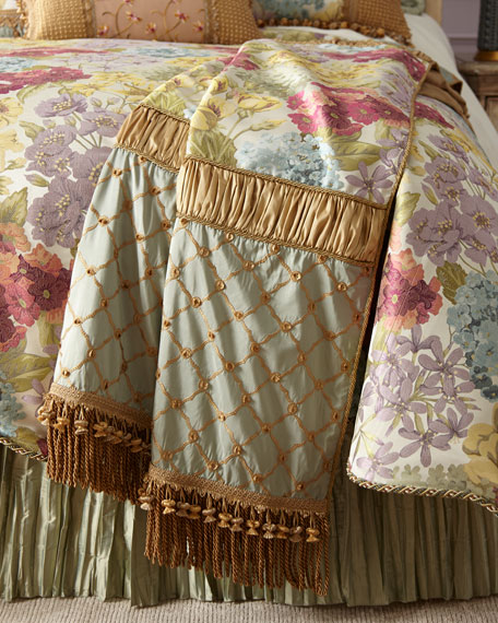Giverny Piece Throw with Bullion Fringe