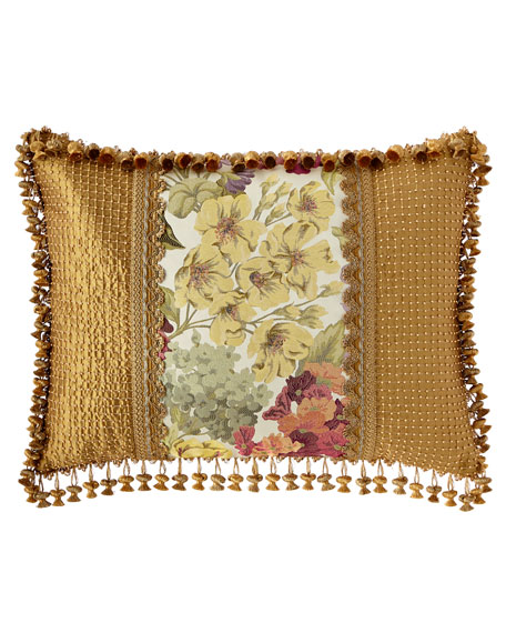 Sweet Dreams Giverny King Sham with Beaded Sides