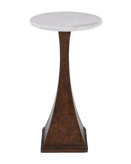Gwynn Marble-Top Side Table