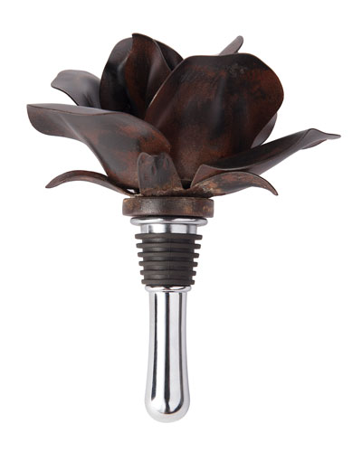 Guadalupe Iron Wine Bottle Stopper with Built-In Corkscrew