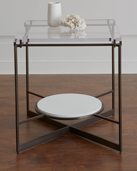 Emmeline Metal and Acrylic Side Table