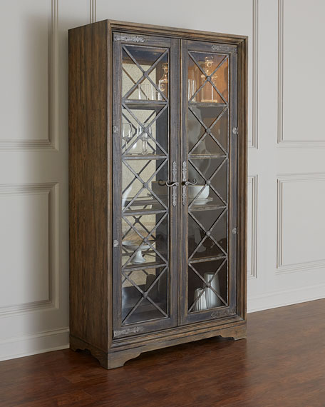 Casella Lighted Curio Cabinet