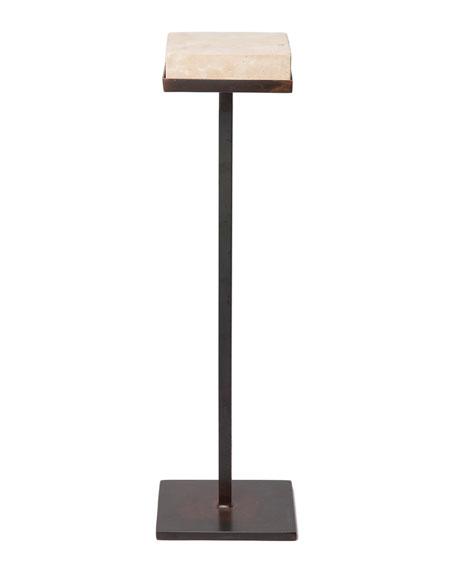 Jan Barboglio Bebida Hand-Carved Stone-Top Side Table