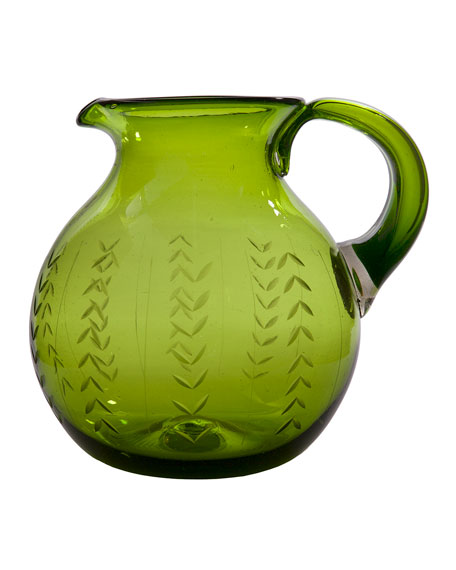Floreado Pitcher with Laurel Engraving