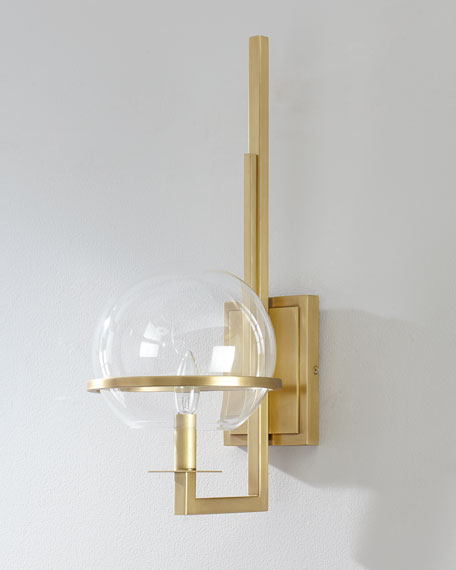 Regina Andrew Design Saturn Natural Brass Sconce