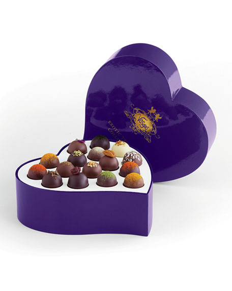 Exotic Heart 16-Piece Truffle Box