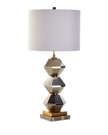 Rockefeller Faceted Crystal Table Lamp