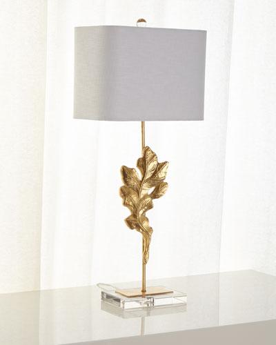 Gold Oak Leaf Table Lamp