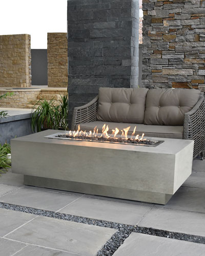Granville Outdoor Fire Pit Table with Propane Gas Assembly