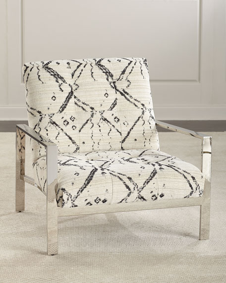 Chrome Inkwell Accent Chair