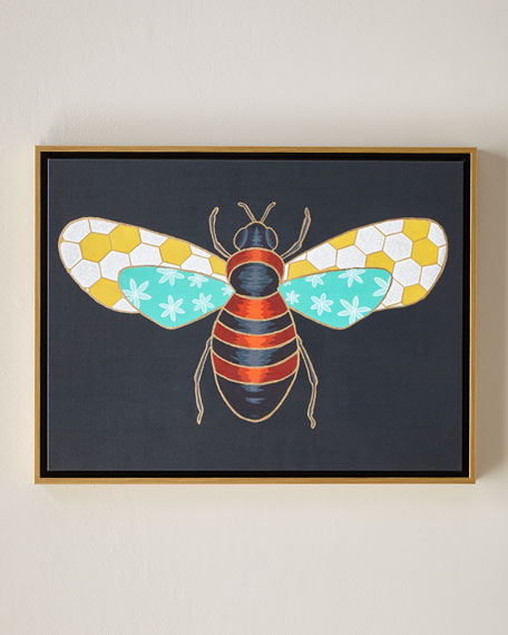 "Luxe Bee II Wall Art, 24"" x 18"""