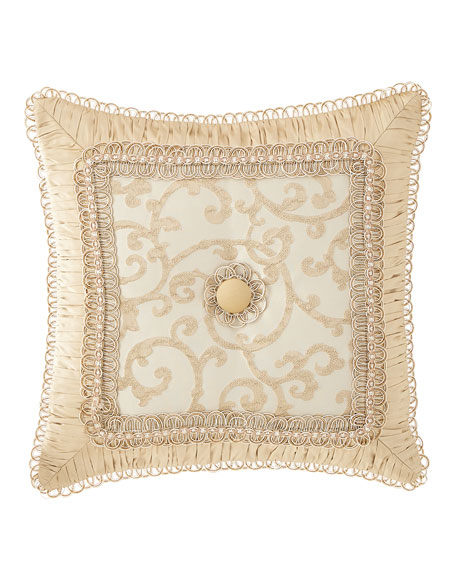 Chamonterie Boutique Pillow with Flower Center