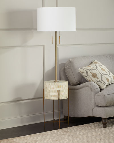 Resse Natural Brass Floor Lamp