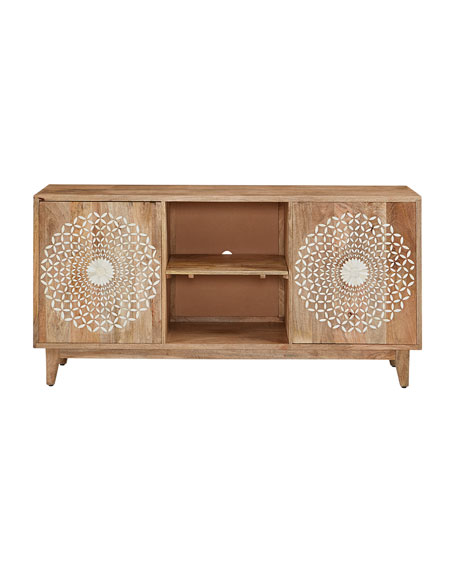 Blossom Bone Inlay Entertainment Console