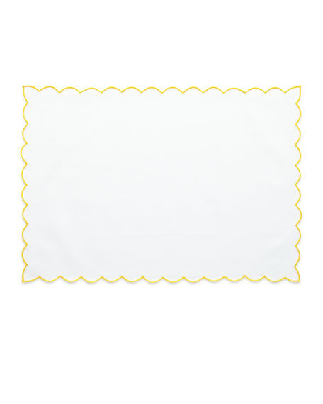 Boutross Imports Scallop Trim Placemats, Set of 4