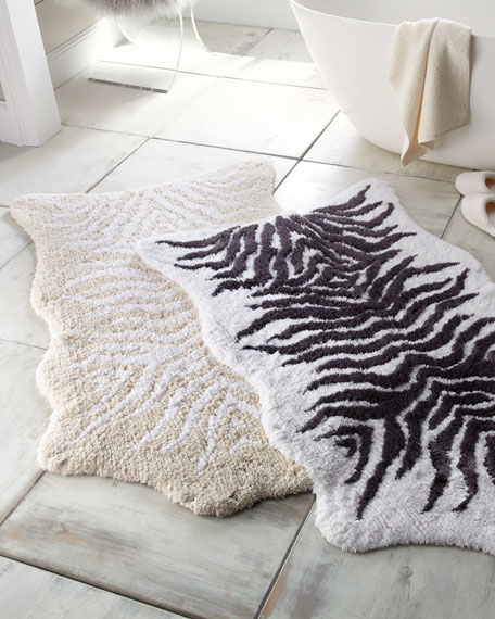 Mountain Zebra Bath Rug