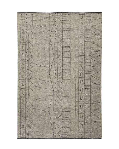Linden Hand-Knotted Rug, 4' x 6'