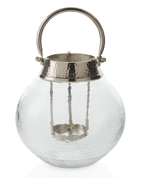 Small Clear Glass Candle Lantern