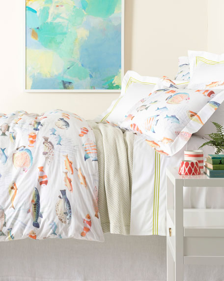 Happy Fish King Duvet Cover