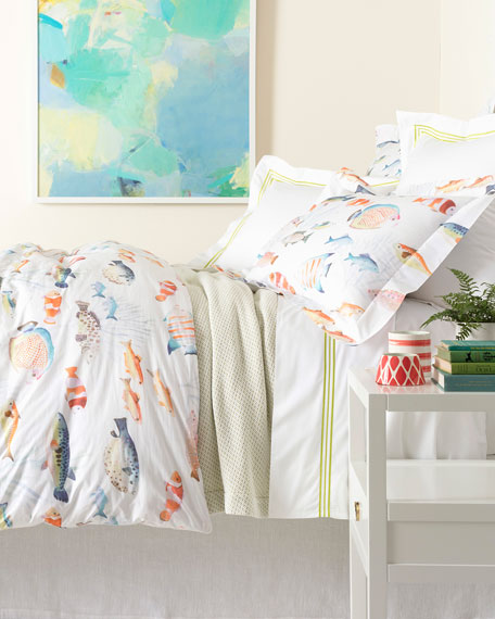 Happy Fish Twin Duvet Cover