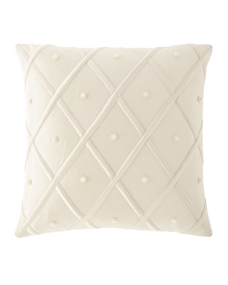 "Luna Silk Pillow, 17""Sq."
