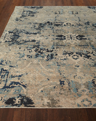 Zaffre Hand-Knotted Rug, 8' x 10'