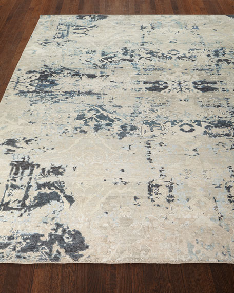 Zaffre Hand-Knotted Rug, 6' x 9'