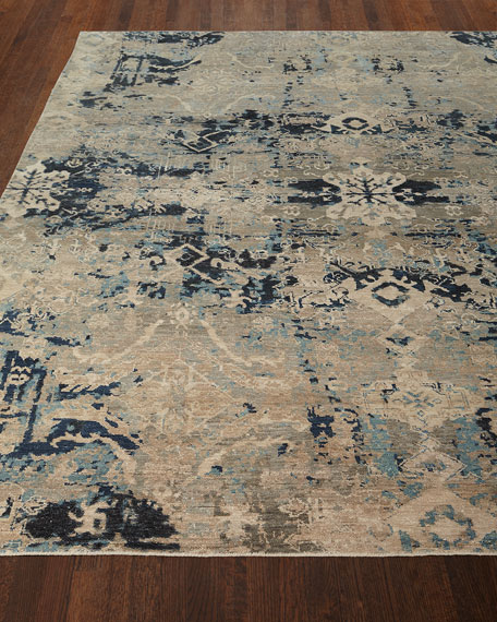 "Zaffre Hand-Knotted Runner, 2'6"" x 10'"