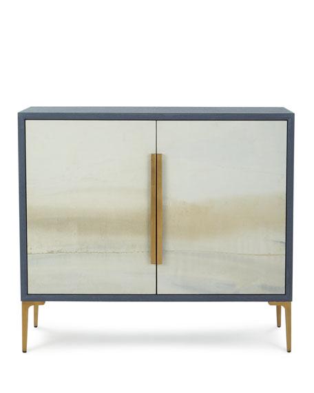 Soft Blue River Cabinet