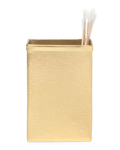 Tiset Brush Holder, Gold