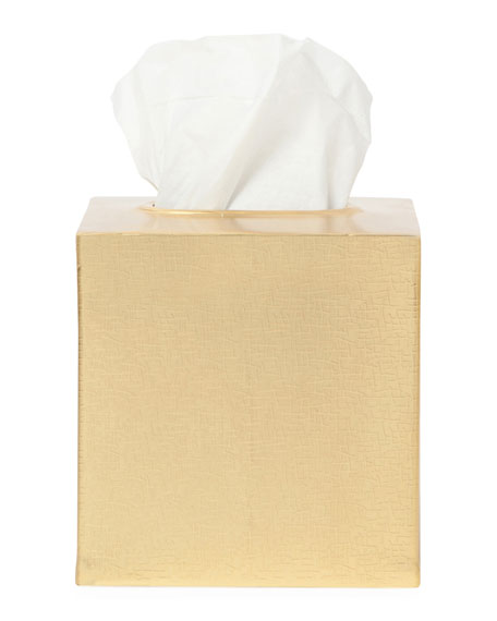 Tiset Tissue Box, Gold