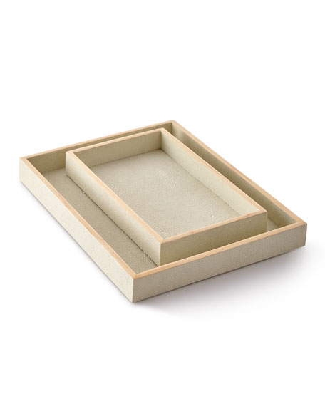 Pigeon and Poodle Manchester Nesting Trays, Set of