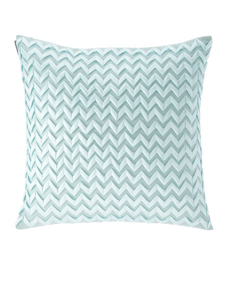 "Chevron Pillow, 26""Sq."