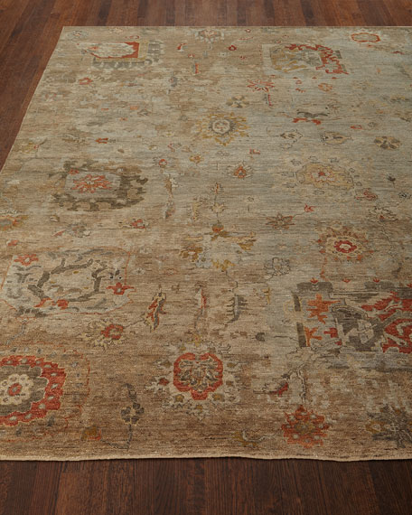 Barron Hand-Knotted Rug, 4' x 6'