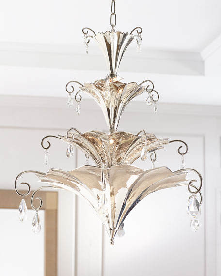 Chinoise Nickel Chandelier