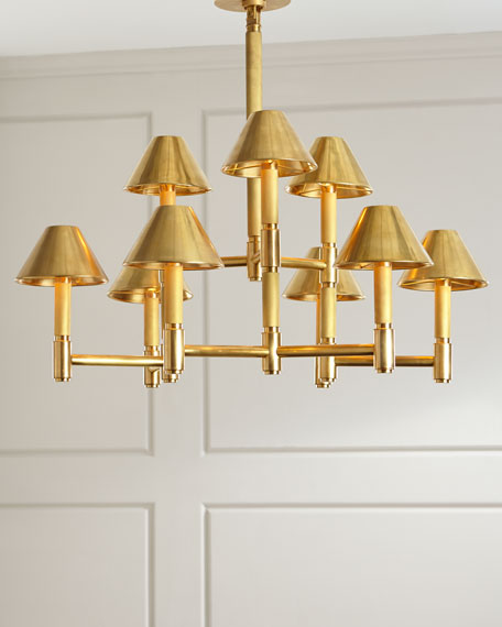 Barrett Medium Knurled Chandelier
