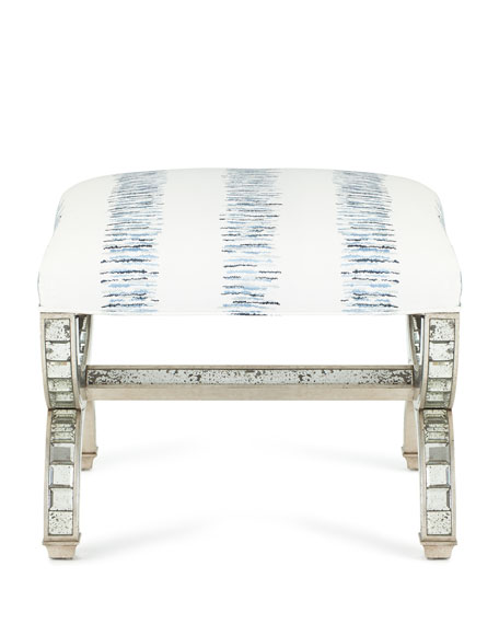 Alexander Mirrored Stool