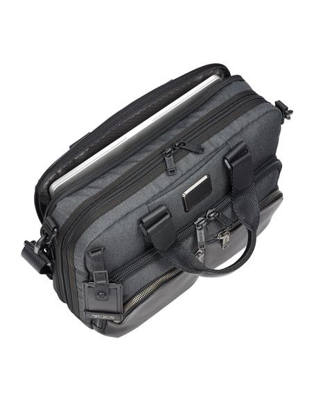 Albany Slim Compartment Briefcase, Gray