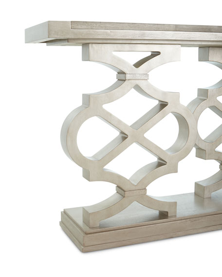 Seth Lattice-Style Console Table